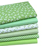 quilting fabric on sale - iNee Green Fat Quarters Fabric Bundles, Quilting Fabric for Sewing Crafting, 18