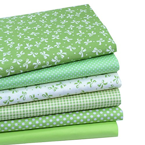 iNee Green Fat Quarters Quilting Fabric Bundles, Sewing Fabric for Quilting Crafting, 18