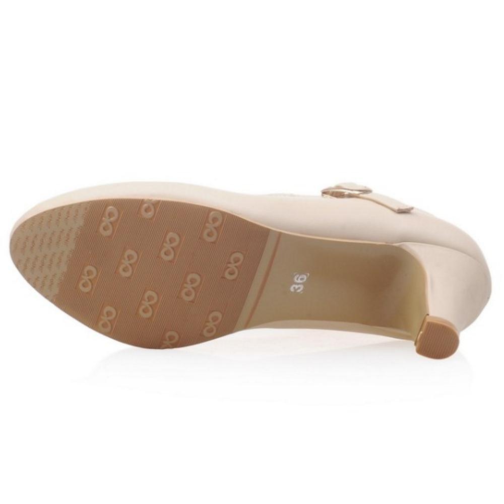 VulusValas Mujer Moda Tac/ónes Mary Jane Zapatos