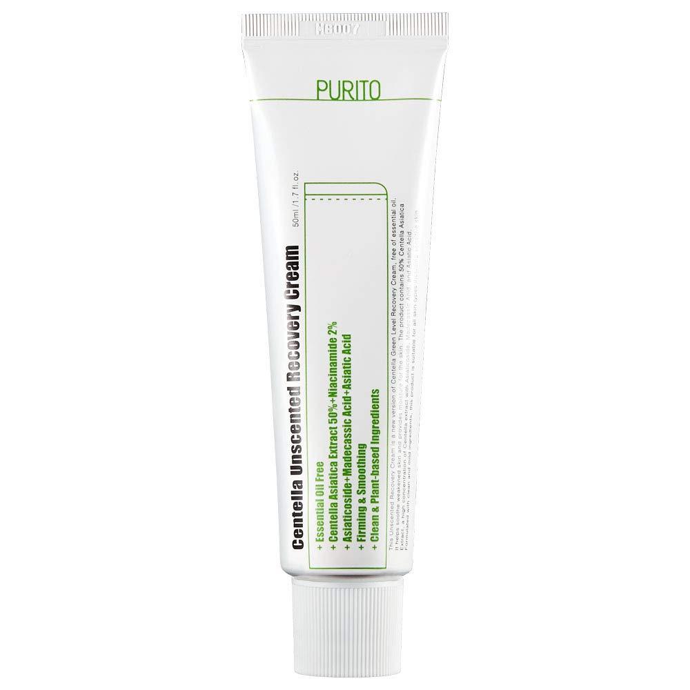 PURITO Centella Unscented Recovery Cream 50ml / 1.7 fl.oz Witch Hazel-free, Vegan, Skin barrier