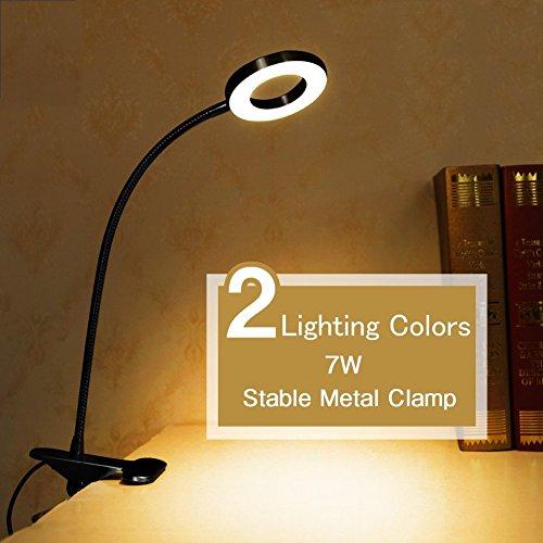 Mofek Clip on Light, Portable Eye-Care Desk Lamp, USB Plug Night Light Clip on for Desk, Headboard and Computers, Bedside Reading Light by Mofek (Image #2)