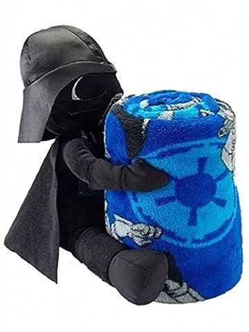 Disney Star Wars Darth Vader Throw Blanket & Stuffed Action Figure 2 Pc Set (Star Wars Darth Vader Blanket)
