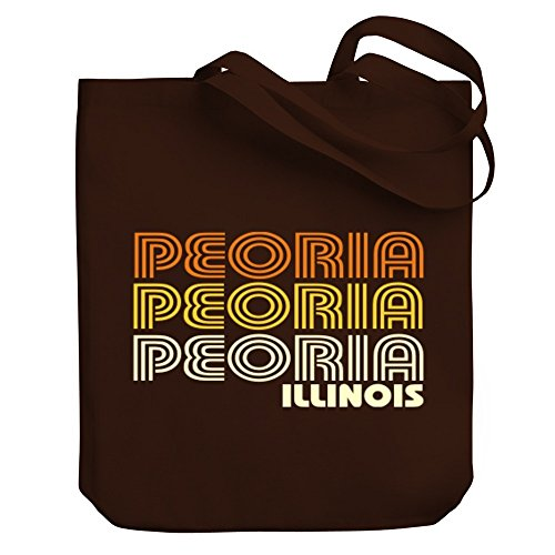 Teeburon Peoria retro color Canvas Tote - Shopping Peoria