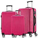 Fochier Luggage 3 Piece Set Hardsell Spinner Suitcase With TSA Lock