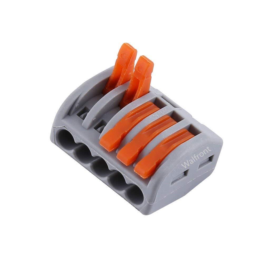 20pcs 5 V/ías de Terminal de Resorte Conector de Cable El/éctrico Reutilizable