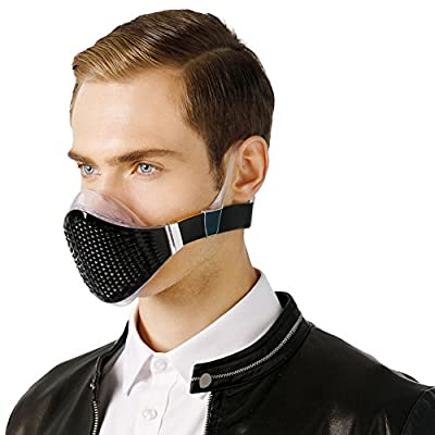 MeHow Stylish Training Mask,Training Mask,Gas mask, Safety mask,Asthma mask, Respirator mask,Anti-Pollution Mask with Replaceable Filters, Anti-Dust Mask (1 Mask + 2 Filte/Filters are Available) from MeHow