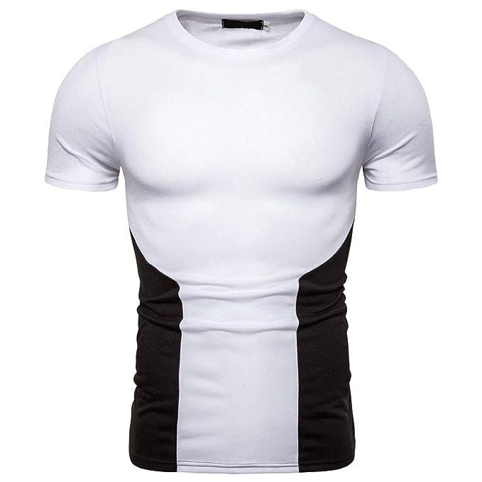 💪💪💪 para Hombres Verano Casual Slim Blanco Y Negro ...
