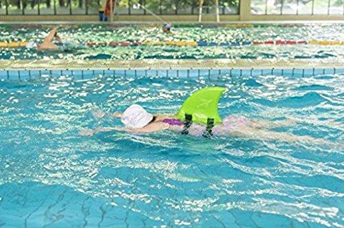 Kid shark swim fin animal swim ring float toy aid pool - Duck repellent for swimming pools ...