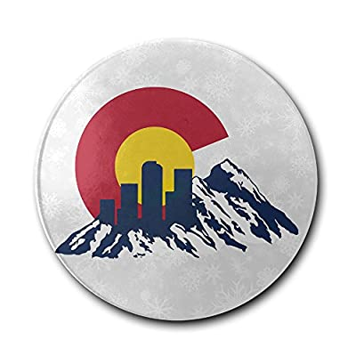 JFD Flag Of Colorado Rocky And Skyline Bar Drink Ceramic Coaster Furniture