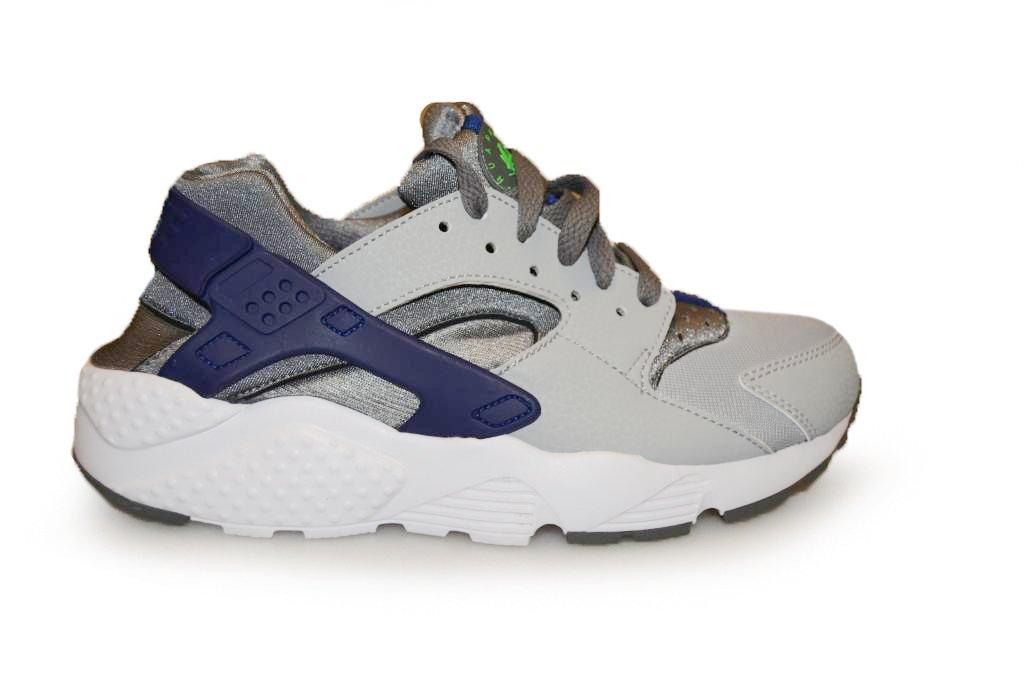 Nike Huarache Run (GS), Zapatillas de Running para Niños 38 EU|Gris / Verde (Cl Gry / Grn Strk-wlf Gry-dp Ryl)