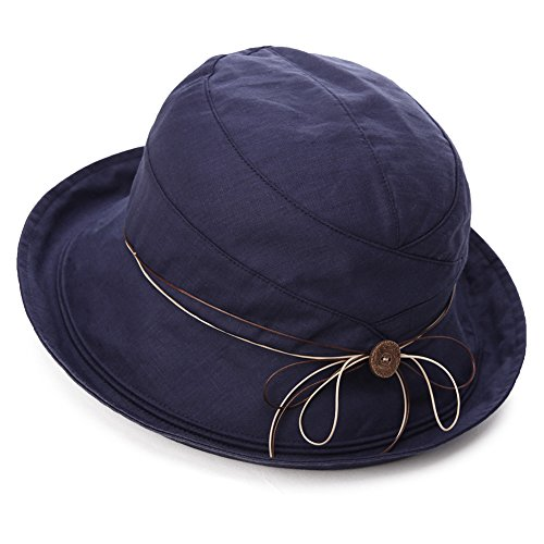 SIGGI Womens UPF 50+ Cotton Linen Foldable Bucket Sun Hats Wide Brim...