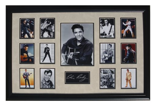 - Ultimate Photo Collage (ELVIS) Featuring 13 Movie Photo's W/Facsimile Autographs Professionally Matted an Framed to a 24x36 Finished Size