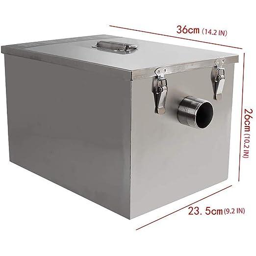 Stainless Steel Water Oil Grease Trap Interceptor Restaurant Kitchen Wastewater