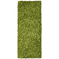 Green Shimmer Shag (2x5) Runner with
