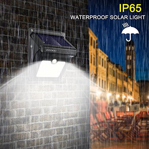 Solar-Motion-Sensor-Lights-Outdoor-ZOOKKI-28-LEDs-Waterproof-Solar-Powered-Wall-Lights-Wireless-Security-Night-Lights-for-Outdoor-Garden-Patio-Yard-Deck-Garage-Driveway-Porch-Fence-4-Pack