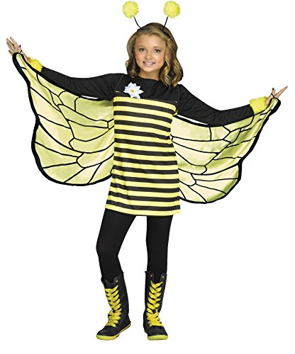 Sweet Bee Toddler Costumes - Fun World Little Girl's Med/bee My Honey Chld Cstm Childrens Costume, Multi,