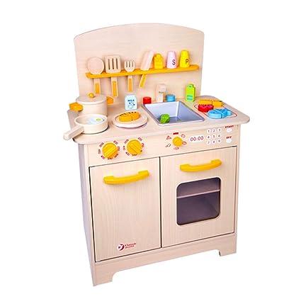 Amazon.com: Kitchen Toys Kitchen Playsets Wood Kitchen ...