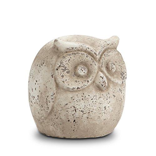 Abbott Collection Terracotta Rustic Fat Owl Garden Statue, Antique For Sale