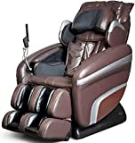 Osaki OS7200HB-FWG Model OS-7200H Executive ZERO GRAVITY S-Track Heating Massage Chair, Brown with Inside Delivery and Setup, Computer Body Scan, Arm Massage, Quad Roller Head Massage System