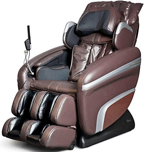 Price comparison product image Osaki OS7200HB Model OS-7200H Executive ZERO GRAVITY S-Track Heating Massage Chair, Brown, Computer Body Scan, Arm Massage, Quad Roller Head Massage System, 51 Air Bag Massagers, MP3 & iPod Connection with Built-in Speakers