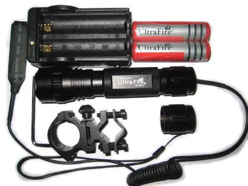 300 Mah Battery (NEW Goldjoy-Super Bright UltraFire 501B CREE XM-L T6 LED 1000 Lumens 3.7-18V Tactical Flashlight Torch + 300mAh Battery +)