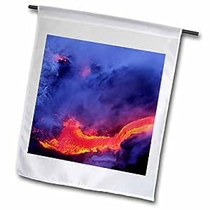 Danita Delimont - Volcanos - Lava, Kilauea Volcano, Hawaii Volcanoes NP - US12 DPB0297 - Douglas Peebles - 18 x 27 inch Garden Flag (fl_89573_2)