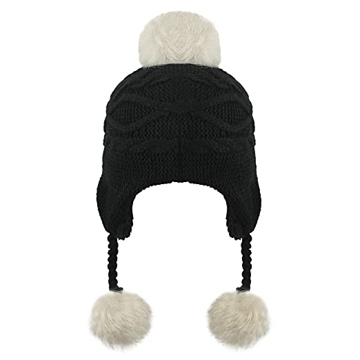 ede7cd9098d Image Unavailable. Image not available for. Color  Greenery Baby Warm  Winter Hats Kids Pom Pom Fleece Lined Earflap ...