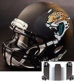 Riddell Speed JACKSONVILLE JAGUARS NFL REPLICA Football Helmet with S2BD Football Helmet Facemask/Faceguard and MIRRORED Eye Shield/Visor