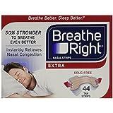 Breathe Right Nasal Strips, Extra, 44-Count Box(Tan)(1 Box)