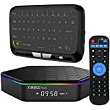 WISEWO Smart TV Box Android 7.1 Amlogic S912 Media Box Octa Core CPU 2GB RAM 16GB ROM Set Top Box Mini PC Support 4K2K 3D BT 4.0 Dual Wifi with Full Panel Touchpad Mini Keyboard