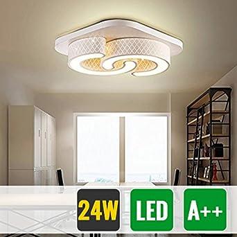 HG® 24W Led- Deckenlampe Schlafzimmer Beleuchtung Warmweiß ...