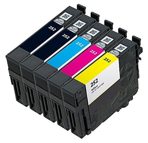 OCP Remanufactured OCP-252 Ink Cartridge Replacement for WorkForce WF-3620 WF-3640 WF-7610 WF-7620 WF-7110 Printers (2 Black 1 Cyan 1 Magenta 1 (Printer Cartridges Wf 3640)