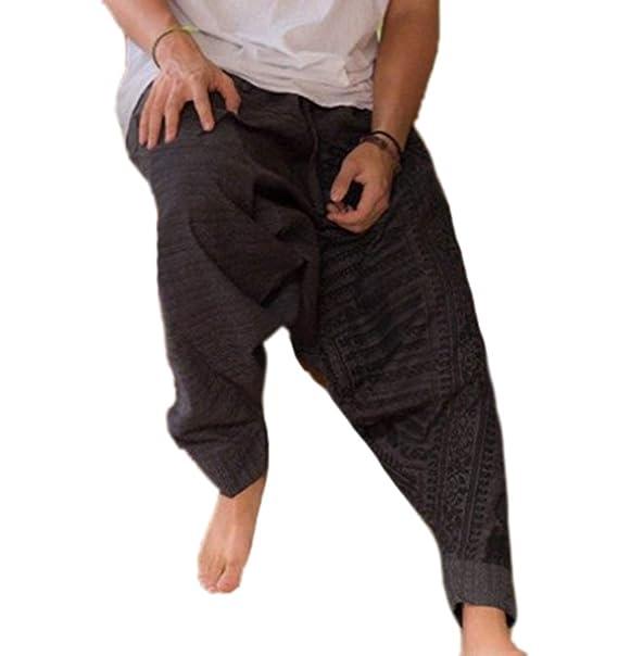 Pantalones de Pierna Ancha Estilo Hippie para Hombre ...