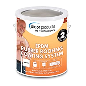 Dicor RPCRC1 White EPDM Rubber Roof Coating   1 Gallon