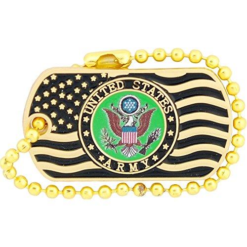 US Army Logo USA Flag Dog Tag Lapel/Hat Pin 1.25