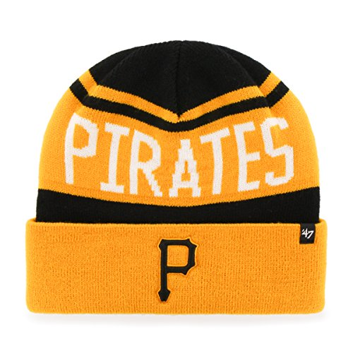 '47 MLB Pittsburgh Pirates Rift Cuff Knit Beanie, One Size, Black ()