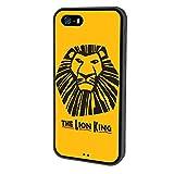 iPhone SE Case Onelee Disney Cartoon Movie The Lion King Tire tread pattern TPU Rubber Black iPhone 5s Case Neverfade Scratchproof Case