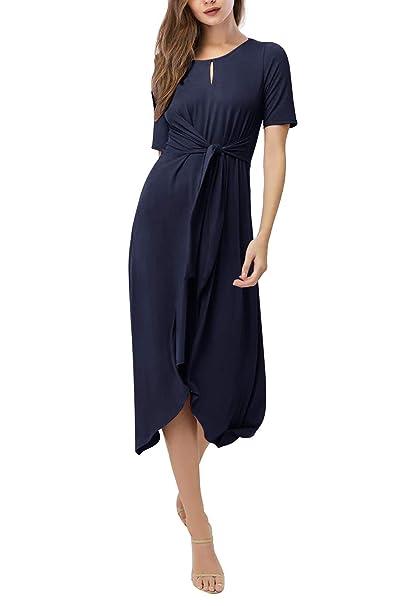 Amazon.com: Yidarton - Vestido de verano para mujer, manga ...