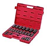 Sunex 2824 1/2-Inch Drive Deep Impact Socket Set, 24-Piece