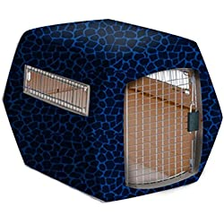 Pet Under Cover Kennel Cover for Petmate, Blue Black, Large