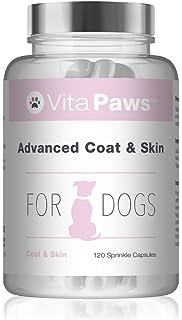 VitaPaws™ Fórmula avanzada piel y pelaje | 120 Cápsulas para espolvorear | Favorece la salud del pelo y la piel de…