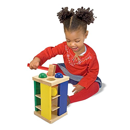 51BtMDFs2zL - Melissa & Doug Deluxe Pound and Roll Wooden Tower Toy With Hammer