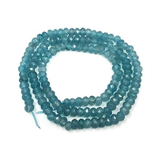 Top Quality Natural Aquamarine Blue Quartz Gemstone Loose Beads 4mm x 2mm Rondelle Spacer Beads 16