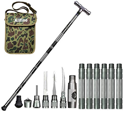 41.7 inches//106 cm ITTA Multi-Purpose Trekking Pole Outdoor Crutches Walking Poles Camping Defense Stick Safety Multi-Functional Home Rod Hiking Survival Tool