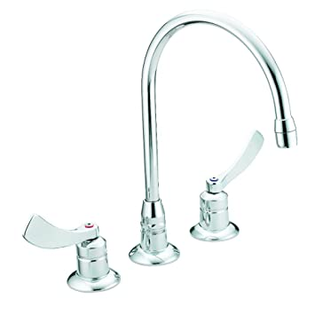 Moen 8225smf15 Commercial M Dura Widespread Kitchen Faucet With 4