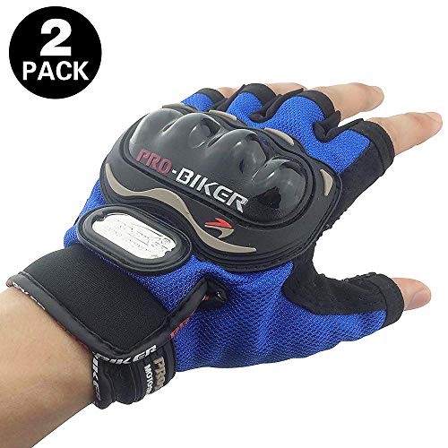 - Tripcraft Hard Knuckle Gloves Fingerless Men Women Carbon Fiber Gloves Military Half Finger Motorcycle Gloves Tactical Gloves Riding,Shooting,Airsoft,Cycling,Combat,Paintball,1 Pair(Blue)
