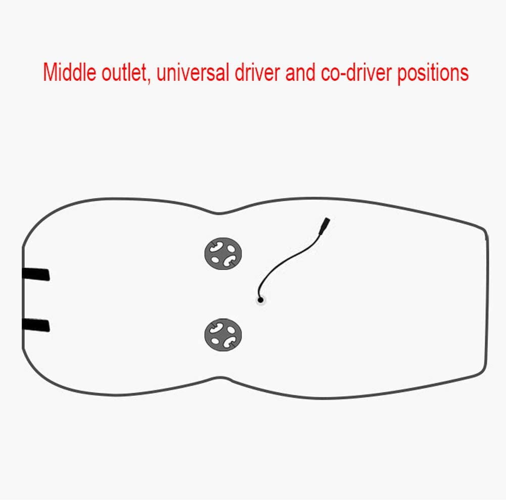 ZHAONI 1 Pack Brown Heated Car Seat Cover Car Seat with Heating with Wireless Intelligence Temperature Massage Controller Car Seat Heating Cushion with Car Back Massager Automatic Power On//Off