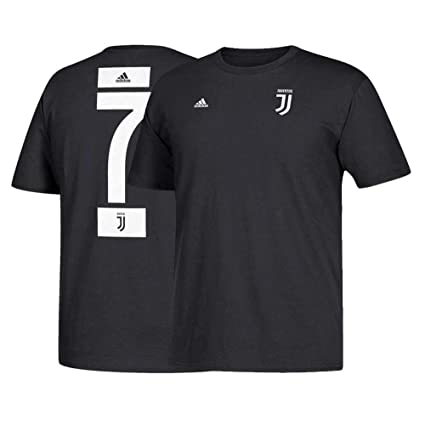7174cb767af1cf adidas Cristiano Ronaldo Juventus F.C. Men's Black Name and Number T-Shirt  Small