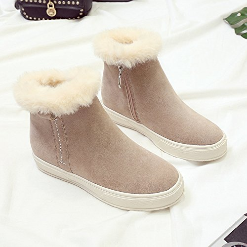 Boot Decoration Snow On Christmas Fleece Women's BERTERI Black Brown Type Brown Pull Winter Classic AgqwFpR
