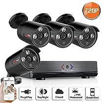 4CH 1080N AHD Home Security Camera System CCTV Camera Security System 4 x 720P Cameras NO Hard Drive SW SWINWAY Anran